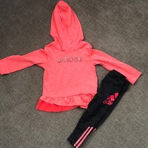Adidas Toddler Girl Outfit 24 Months
